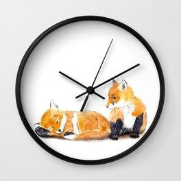 Fox Kits Wall Clock