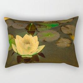 Summer Waterlily Pond Rectangular Pillow