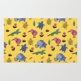Cute Wild Animals Pattern Rug