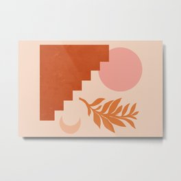Abstraction_SUN_NATURE_Architecture_Minimalism_001 Metal Print