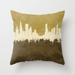Chicago Illinois Skyline Throw Pillow