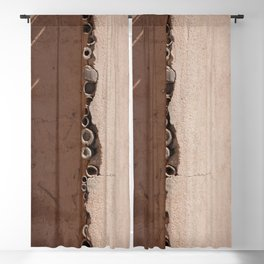 rotated rustic roof Blackout Curtain