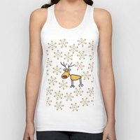 reindeer Tank Tops featuring Reindeer by Mr and Mrs Quirynen
