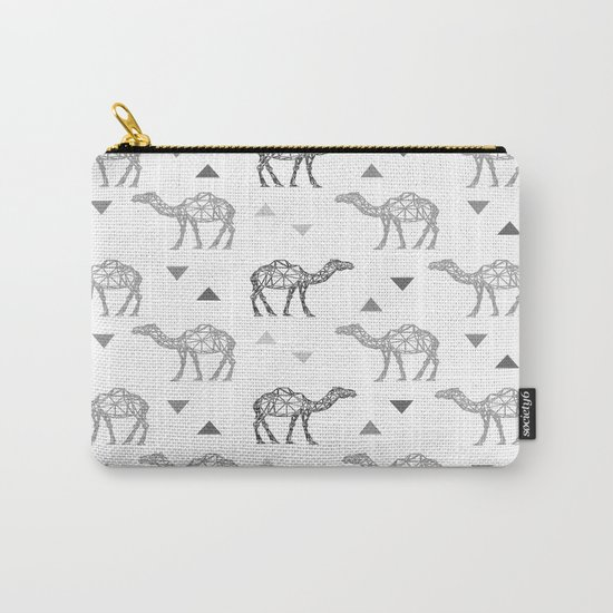 Camel Pattern Carry-All Pouch