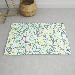 Greenery Squiggles Rug