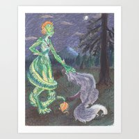 La Chupacabra y su Zorro Art Print