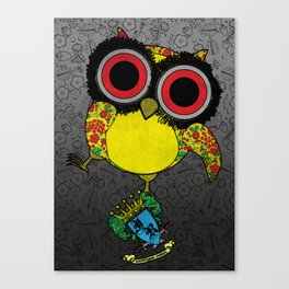 Printed Owl Canvas Print