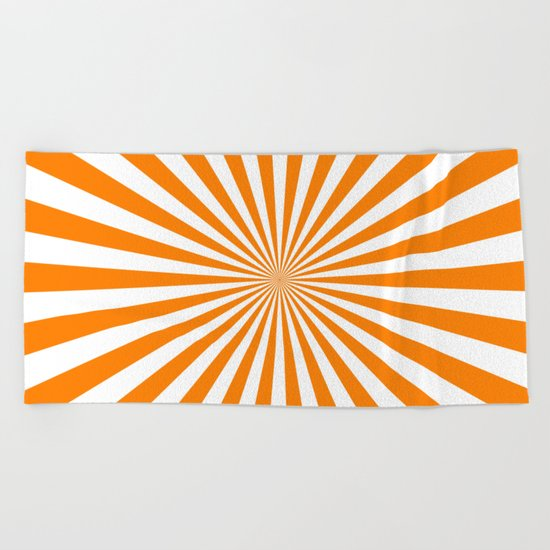 Starburst (Orange/White) Beach Towel