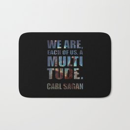Each of Us, A Multitude [Black] Bath Mat