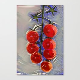 Cherry tomatoes on a branch Canvas Print
