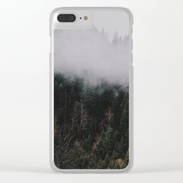 Forest Fog IV Clear iPhone Case