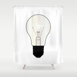 Isolated Light Bulb Shower Curtain