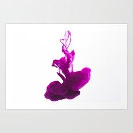 Purple Ink in Water Art Print
