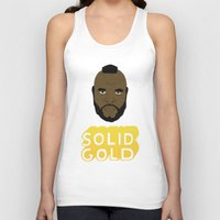 solid Tank Tops featuring Solid Gold by Chase Kunz