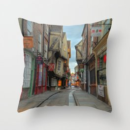 York Shambles HDR  Throw Pillow