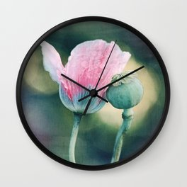 Just the two of us - poppy & seed pod photo Wall Clock