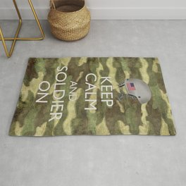 Keep Calm and Soldier On Rug