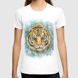 Amur Tiger Watercolor Portrait T-shirt