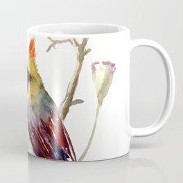 Cardinal Bird And Poppy Flowers Coffee Mug