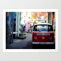 vw Art Prints featuring Vw T1 by Nechifor Ionut