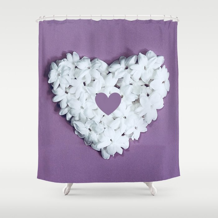 Purple You are in my heart Shower Curtain