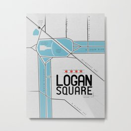 Chicago's Logan Square Metal Print