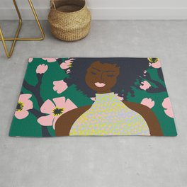Thoughts of Pink Blooms Everywhere No 02 Rug
