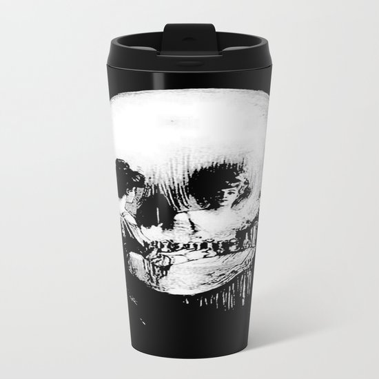 All Is Vanity: Halloween Life, Death, and Existence Metal Travel Mug