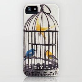 Bird Brained Babe iPhone Case