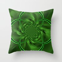 clover Throw Pillows featuring Clover by Sartoris ART