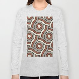 Circle Swirl Pattern Ever Classic Gray 32-24 Red River 4-21 and Dover White 33-6 Long Sleeve T-shirt