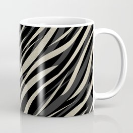 Tiger abstract striped pattern . Coffee Mug
