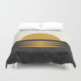 Sunset Geometric Midcentury style Duvet Cover