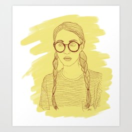 Ms Sunshine Art Print