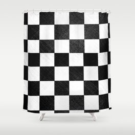 Dirty checkers Shower Curtain