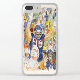 JJ Watt Football Player Clear iPhone Case