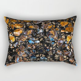 Terrazzo - Gemstone and gold on marble #2 Rectangular Pillow