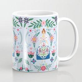 Fairy Tale Folk Art Garden Coffee Mug