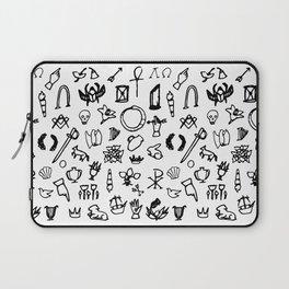 Cemetery Symbology (White) Laptop Sleeve