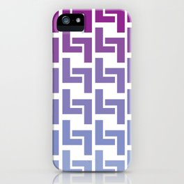 Monochromatic Purple L7 iPhone Case