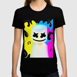 DJ Marshmello Face Black T-shirt