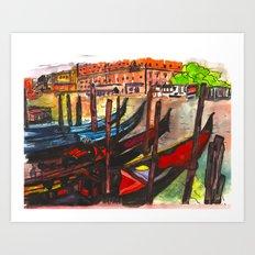 Paradisal Venice Art Print