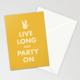 Live Long and Party On (Gold) Stationery Cards