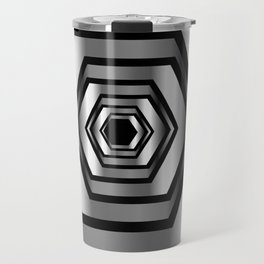 hexagon metallic art- digital realism Travel Mug