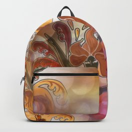 discopattern orange -1a- Backpack