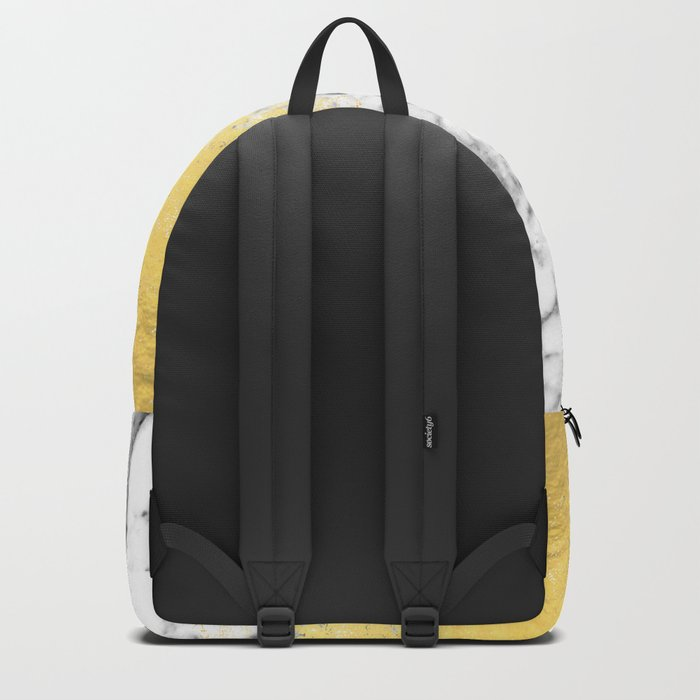 Astra - marble black and gold abstract art minimalist home decor office dorm nursery Backpack