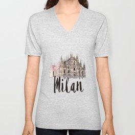 Milan watercolor Unisex V-Neck