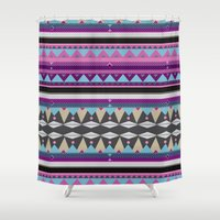 aztec Shower Curtains featuring Aztec by Pinkspoisons