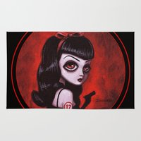 tina crespo Area & Throw Rugs featuring 7-Tina by Dienzo Art