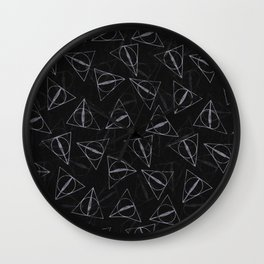 deathly hollow pattern Wall Clock